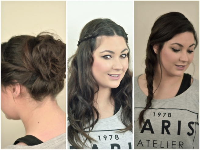 Three Easy Work Hairstyles