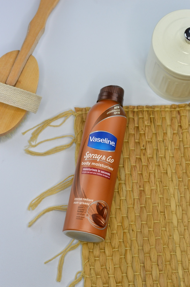 Made From Beauty the vaseline spray and go body moisturiser